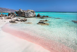 Fototapety Coast of Crete island in Greece. Pink sand beach of famous Elafonisi (or Elafonissi).