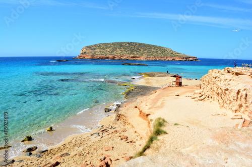 Plage de Cala Conta, Ibiza, Baléares, Espagne