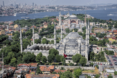 Poster Aerial view of Golden Horn