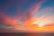 beautiful seascape and twilight sky