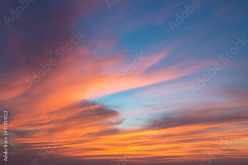 Poster beautiful seascape and twilight sky
