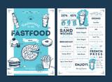 Fototapety Restaurant cafe menu template design on chalkboard background vector illustration