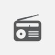 radio icon vector, solid logo illustration