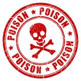 Poison danger vector rubber stamp - 115050623