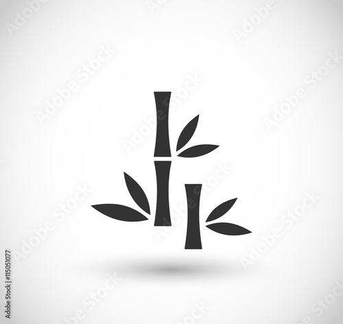 Naklejka Bamboo icon vector
