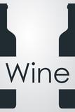 Icono plano Wine y botellas sobre fondo degradado gris #1