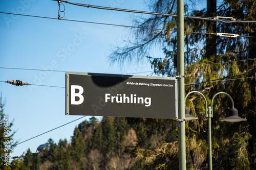 Zdjęcia na płótnie, fototapety, obrazy : Schild 52 - Frühling