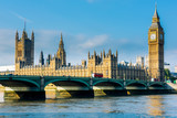 Fototapety Westminster Bridge and Houses of Parliament with Thames river. London, United Kingdom
