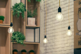 Cafe Interior Design Pendants Close Up