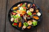 Food Seafood Salad Mediterranean Cuisine Restaurant Dining Concept