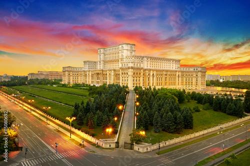 Bucharest City in Romania плакат