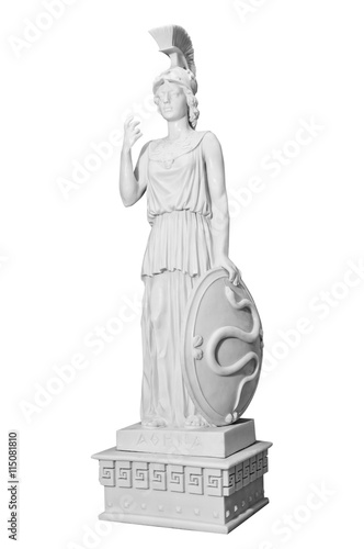 Poster Antique statue of a woman with a shield