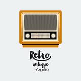 retro radio poster isolated icon design