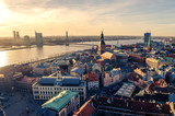 Fototapety Riga, Latvia: aerial view of Old Town