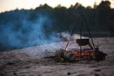 bonfire, night fire, bowler ear dinner, hunting or Fishing, travel