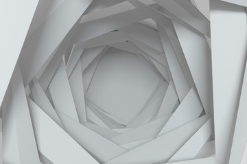 3d rendering concentric background with random rotated geometry shapes © Alexey Brin