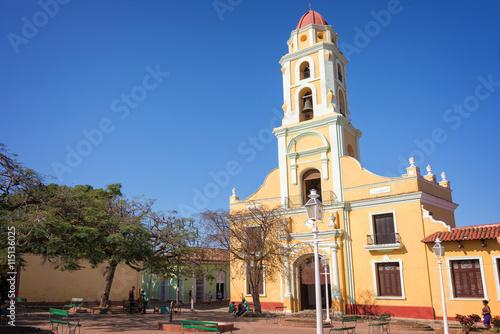 Plagát Square and church of Saint Francis of Assini, Trinidad, Cuba