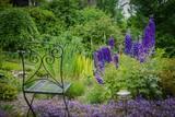 Garten mit Rittersporn - 115140663