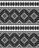 Folk art black seamless pattern from Ukraine and Belarus - 115144694