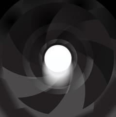 gun barrel inside vector background illustration hole