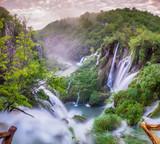 Wodospady w Parku Narodowym Jezior Plitwickich,Chorwacja