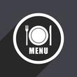 Flat design web menu vector icon