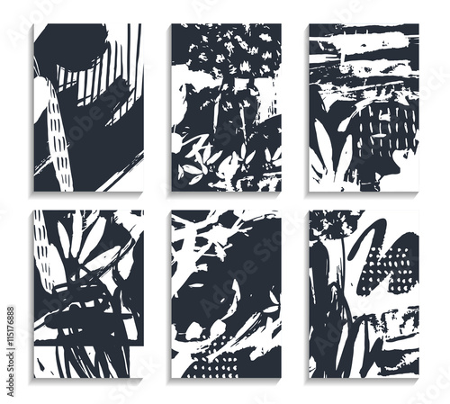 Aluminium Graffiti Set of hand drawn cards. Abstract backgrounds. Pastel template for banner, poster, decor, flyer
