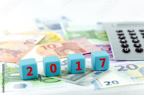 Poster 2017, Geld, Taschenrechner