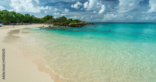 Saint Martin beach, Caribbean sea