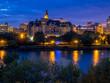 Saskatoon skyline along the Saskatchewan River  in Saskatoon, Saskatchewan