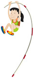 Woman athlete doing pole vault