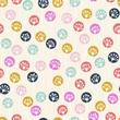 seamless pattern with abstract floral ornament