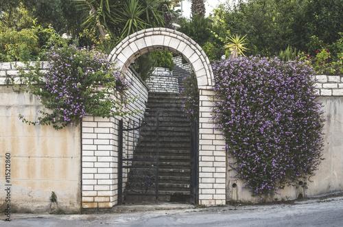 Greek house entrance