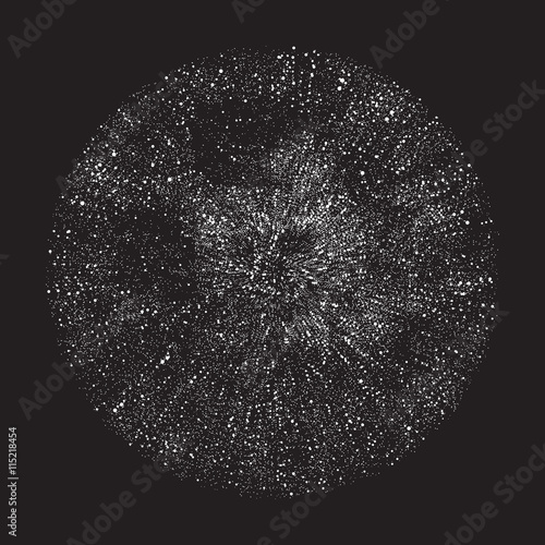 Halftone circle, black and white, explosion, vector illustration EPS 10 - 115218454