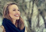 Fototapety Beautiful smiling young woman portrait - close up