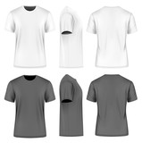 Men short sleeve round neck t-shirt