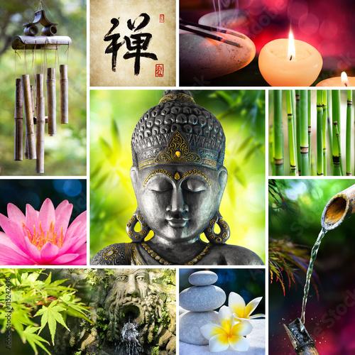 Fototapeta Collage Zen - Asian Mosaic With Buddha