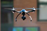 drone flying near house