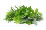 Fototapety Fresh spices and herbs isolated