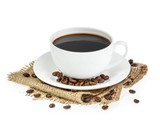 Fototapety cup of coffee isolated