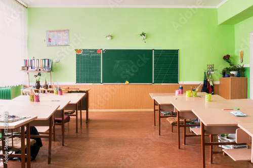 The class of kindergarten for children's education