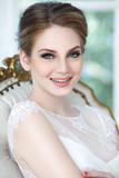 Portrait of cute smiling bride