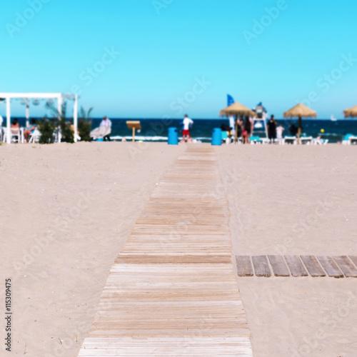 La Malvarrosa Beach in Valencia, Spain Poster