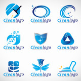 Fototapety Clean and Housekeeping service logo vector set design