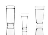 Water glass isolated with clipping path