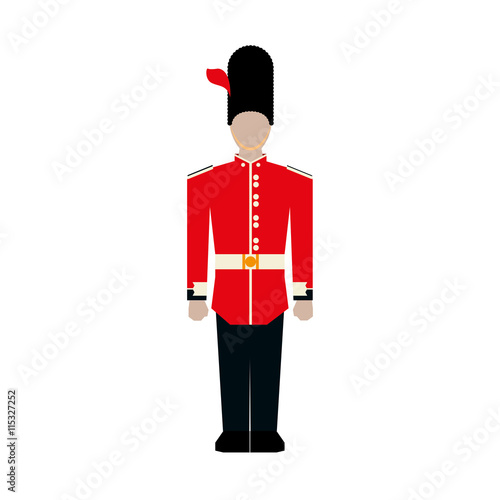 Zdjęcia na płótnie, fototapety, obrazy : United kingdom concept represented by soldier icon. Isolated and flat illustration