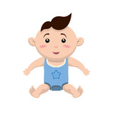 Baby concept represented by boy cartoon icon. Isolated and flat illustration