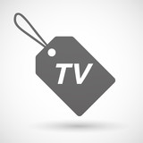 Isolated  product label icon with    the text TV