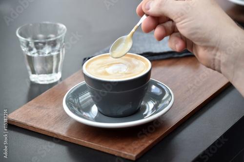 Poster Espresso coffee maker - barista style