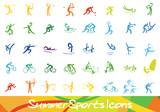 Sport Icons - Ebenen einzeln gruppiert und beschriftet | layers grouped seperately and labeled